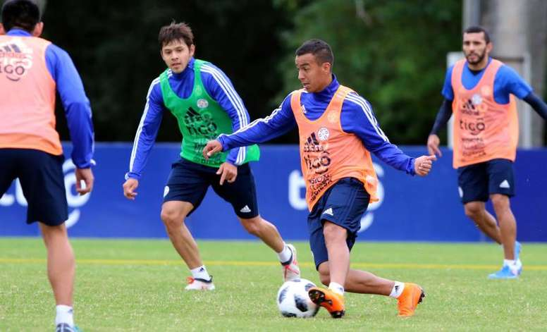 Paraguay inició la preparación de la Copa América. EFE