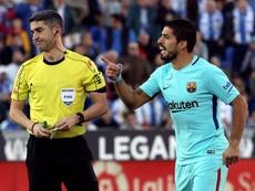 Undiano Mallenco también pitó el último Barcelona-Valencia. EFE/Archivo