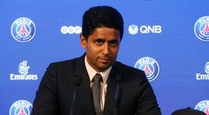 O presidente do PSG, Nasser Al-Khelaifi. EFE/Archivo