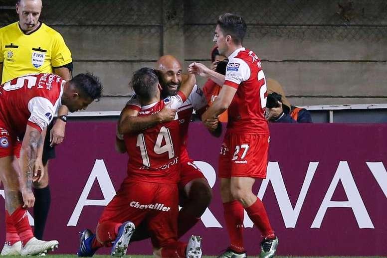 Quintana marcó el gol del triunfo en el final. EFE