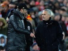 Mourinho eleva la presión sobre Klopp. EFE/Archivo