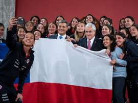 Chile despide a sus guerreras . EFE/PresidenciadeChile