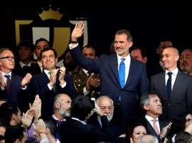 El rey Felipe presidió la final. EFE
