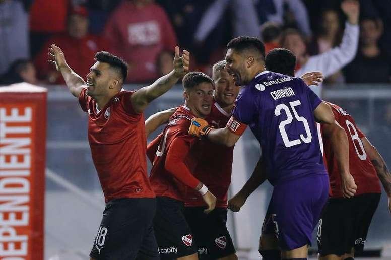 Silvio Romero, máximo goleador de la Sudamericana 2019. EFE