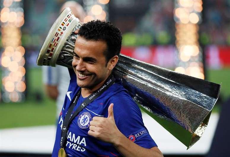 Pedro anunció su adiós al Chelsea al término de su contrato en verano. EFE