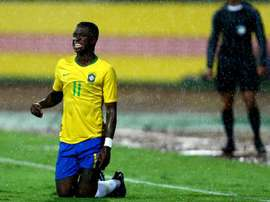 Vinicius has been called up to the Brazil squad. EFE/Archivo
