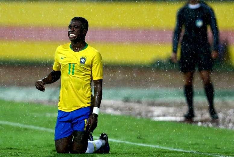 Brasil quiere a Vinicius, pero Tite piensa en Moura. EFE/Archivo