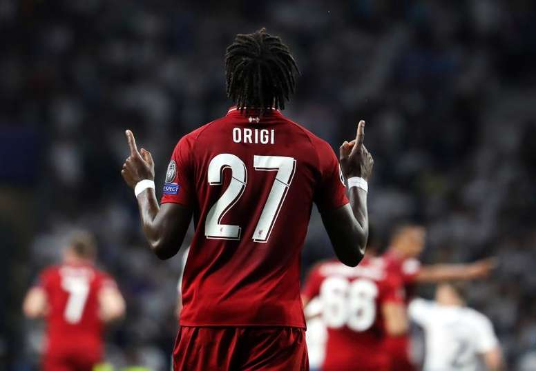 Origi ha marcado tres goles en sus últimos tres disparos a puerta. EFE/EPA