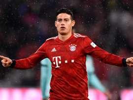 C'est terminé entre James et le Bayern. EFE/Archive