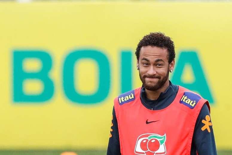 Neymar se pone a 100 con Brasil. EFE