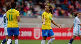 Brasil cai para 11º no ranking feminino da FIFA. EFE/JUSTIN LANE/Archivo