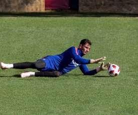 L'Atlético recule et veut prolonger Adán. EFE