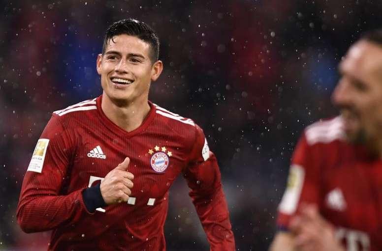 El nombre de James no está en la mesa del Atlético. EFE