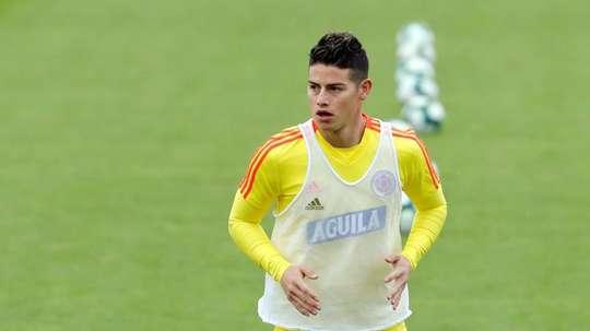 James falou sobre seu futuro incerto no Real Madrid. EFE