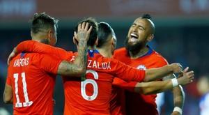 Vidal a analysé les chances du Chili. EFE