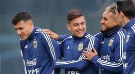 Paredes revient sur l'élimination en Copa América. EFE