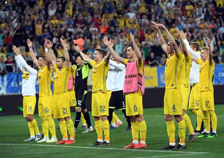 Ucrania logró la victoria sobre Lituania. EFE
