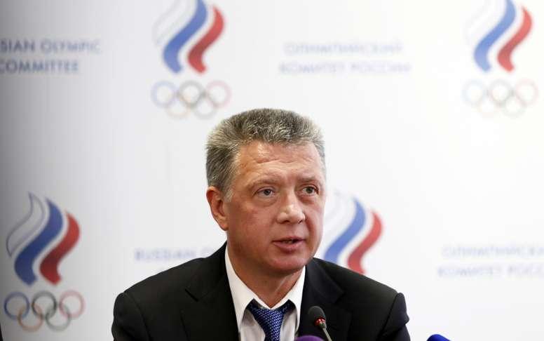 El pasado 1 de junio, la Federación Rusa de Atletismo (FRA) anunció que había saldado ya su deuda de 3,2 millones de dólares con la IAAF, una de las condiciones para su readmisión, por lo que su presidente, Dmitri Shliajtin (en la imagen) confiaba en un levantamiento de la suspensión en esta reunión de Montecarlo. EFE/Archivo
