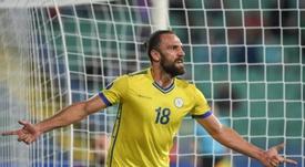 Muriqi marcó el primero de los dos tantos que Kosovo endosó a la República Checa. EFE