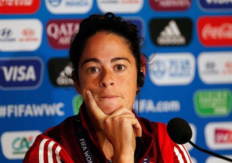 Marta Torrejón miró el lado positivo de la derrota. EFE