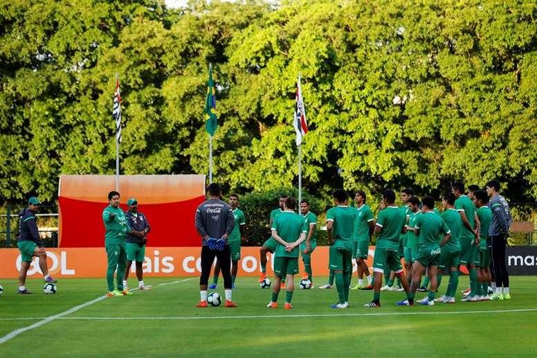 Bolivia comienza a definir el equipo ante Brasil. EFE