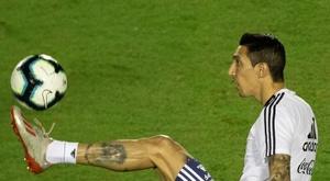Os péssimos 45 minutos de Di María na estreia. EFE