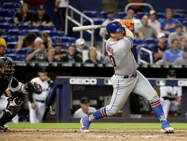 El primera base de los New York Mets, Pete Alonso. EFE/Archivo
