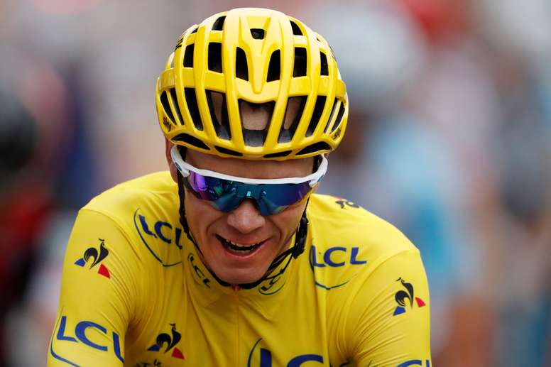 El ciclista británico Christopher Froome, en una foto de archivo durante el Tour de Francia 2017, el 23 de julio de 2017. EFE/Archivo