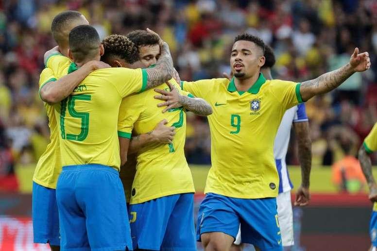 La ausencia de Neymar ha cambiado los papeles en Brasil. EFE