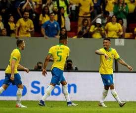 Casemiro falou sobre o jejum de vitórias da seleção. EFE