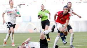A Seleção Espanhola chegou pela primeira vez às oitavas de final de um Mundial feminino. EFE