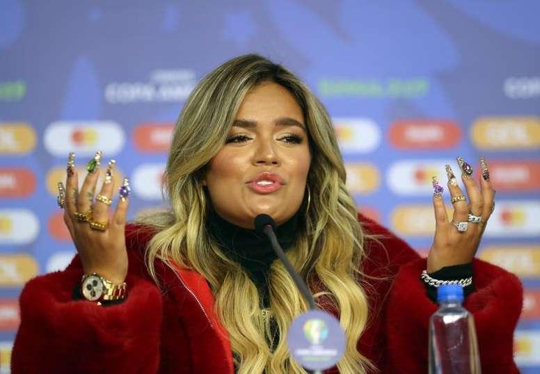 Karol G animó a Colombia de cara a la Copa América. EFE