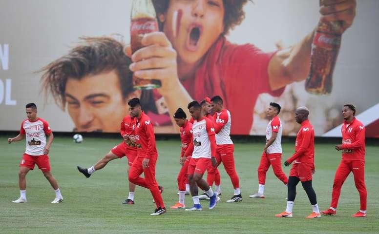 Perú acabó sus entrenamientos. EFE