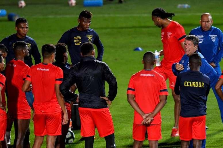 Ecuador, a soñar en la Copa. EFE