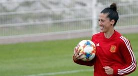 Jenni Hermoso fue la mejor de España en el Mundial. EFE