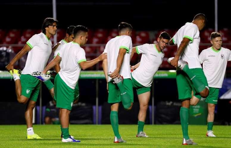 Bolivia mantiene sus dudas de cara al debut. EFE
