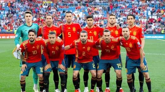 La Selección Española ya es séptima del Ranking FIFA. EFE/Archivo