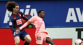 O Barcelona anunciou que exerceu a opção de recompra que dispunha por Marc Cucurella. EFE/Archivo