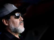 Maradona dejó el banquillo de Dorados por motivos de salud. EFE/Archivo