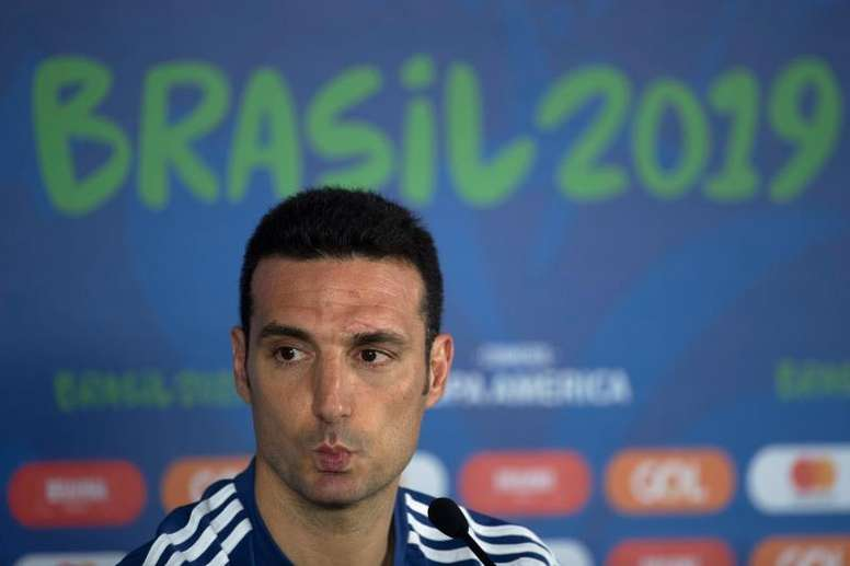 Scaloni spoke about Messi in his press conference. EFE
