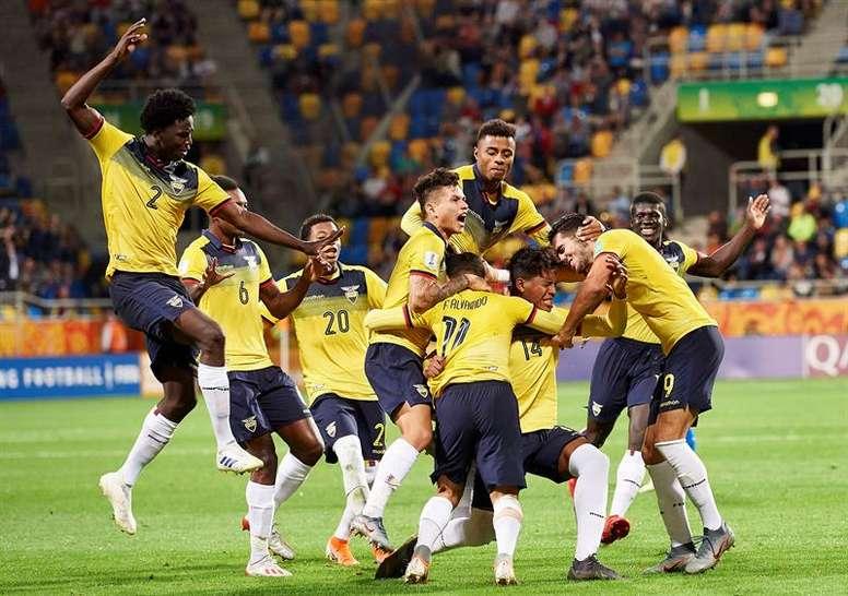 4acc3cc3 Pin Ecuador vence a Italia y se consolidó como tercero en el Mundial Sub 20.  EFE
