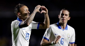 Everton a marqué pour le Brésil contre la Bolivie. EFE