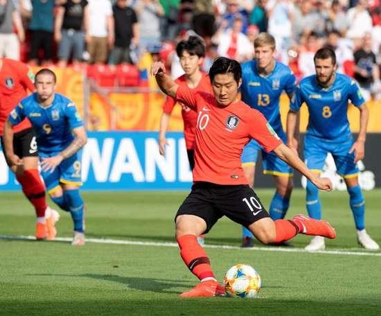 Kang-in Lee, eleito o melhor jovem asiático de 2019. EFE/EPA