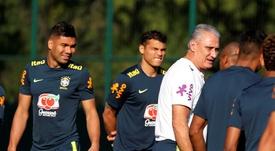 Brasil e seu treinamento sem Neymar. EFE