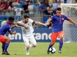 Falcao prend la défense de Messi. EFE
