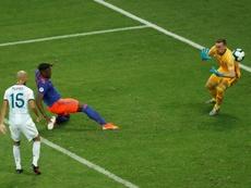 Zapata ya piensa en el próximo partido. EFE