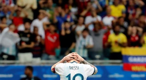 Messi spoke to the press for 45 minutes after Argentina's defeat. EFE
