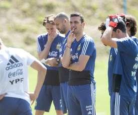 Messi digère la défaite... à la salle de sport. EFE