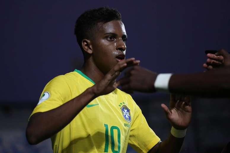 Rodrygo, concentrado con Brasil Sub 23. EFE
