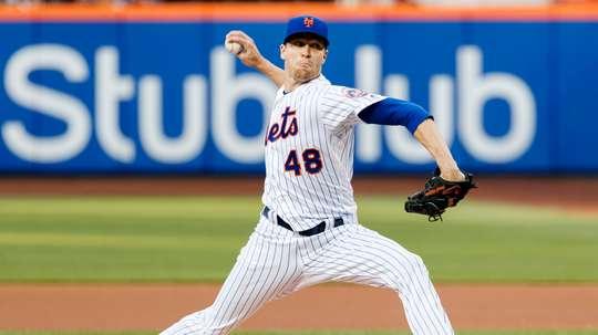 Jacob deGrom de los Mets. EFE/Archivo